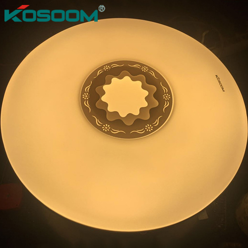 đèn LED ốp trần đổi màu hoa mẫu đơn kosoom