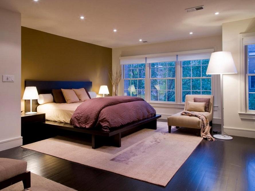 bố trí đèn trong phòng ngủ
